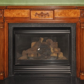 faux bois painted on plaster fireplace mantel - private residence - boston, ma
