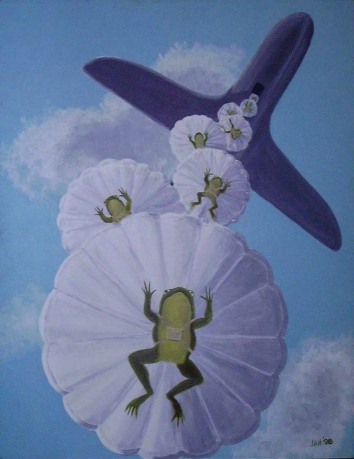 bedroom ceiling mural (toads away!) - salem, ma
