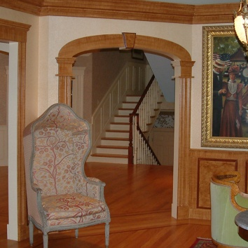 faux bois moulding & wainscot - private residence - wellesley, ma