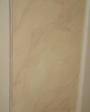 faux marbre pilaster panels (detail)- private residence - boston, ma