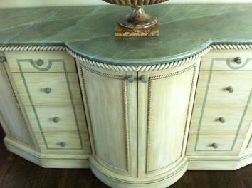 faux marbre sideboard (detail) - newton, ma