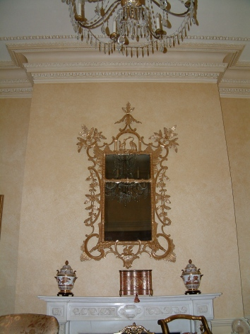 living room wall and moulding glaze - boston, ma