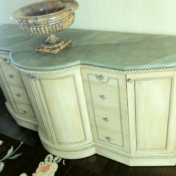faux marbre sideboard - newton, ma